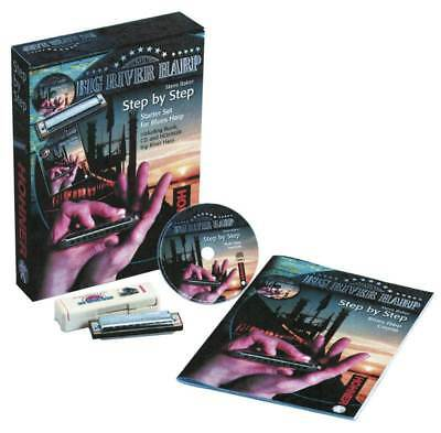 Hohner Step By Step Blues Starter Set, CD, Book And Big River Harmonica Key Of C • 56.12£