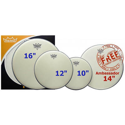 Remo Ambassador Coated ProPack, 10 , 12 , 16  And 14  BA-0114-00 • 54.77£