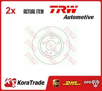 2 X TRW AUTOMOTIVE BRAKE DISC SET DF6339 • 68£