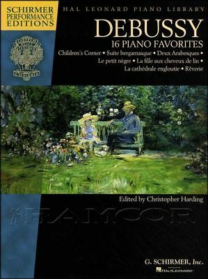 Hal Leonard Piano Library Debussy 16 Favorites Music Book SAME DAY DISPATCH