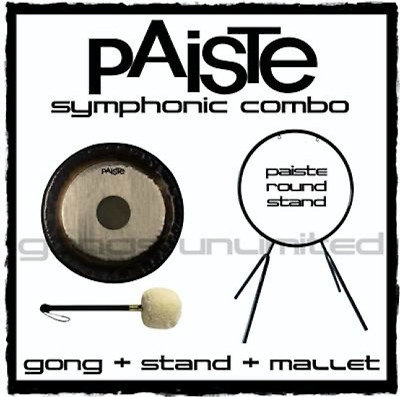 30  - 38  Paiste Symphonic Gong On Round Orchestra Stand With Mallet Combos • 1,981.69£