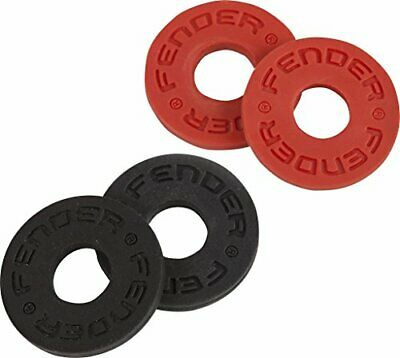 Fender Strap Blocks - Strap Locking System - 2 Pairs - Red And Black • 4.99£