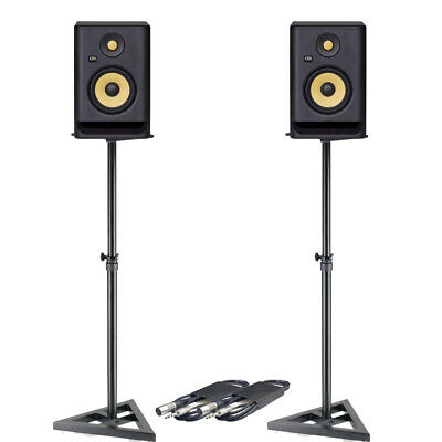 KRK Rokit RP5 G4 (Pair) With Monitor Stands & Cables Bundle Deal • 348£