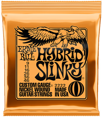 Ernie Ball 6 String Hybrid Slinky 09-46 Nickel Electric Guitar Strings 2222 • 7.50£