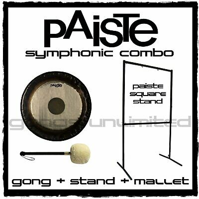 Paiste Symphonic Gong On Square Stand With Mallet Combos • 1,433.26£