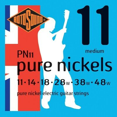 Rotosound Pure Nickels 11-48 Medium Electric Guitar Strings PN11 • 8.79£