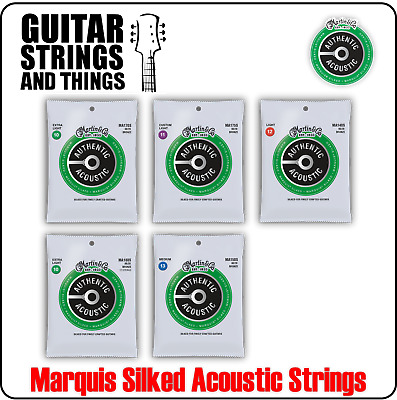 Martin Authentic Acoustic Marquis Silked 80/20 Bronze Acoustic Guitar Strings