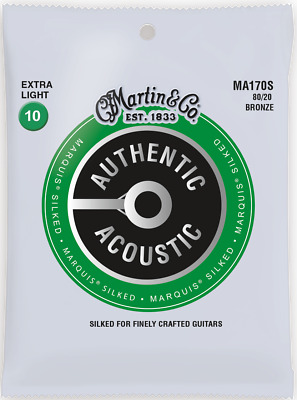 Martin Marquis Silked 10-47 Ex Light 80/20 Bronze Acoustic Guitar Strings MA170S
