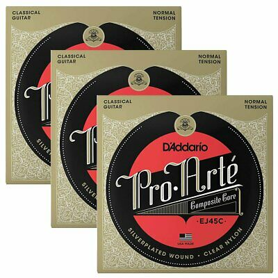 3 SETS! D'Addario Pro-Arte Composite Classical String Normal Tension EJ45C • 28.46£