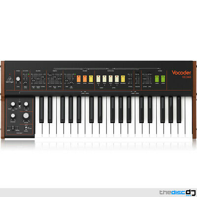 Behringer VC340 Authentic Vintage Analogue Vocoder MIDI USB Keyboard Synth • 519£