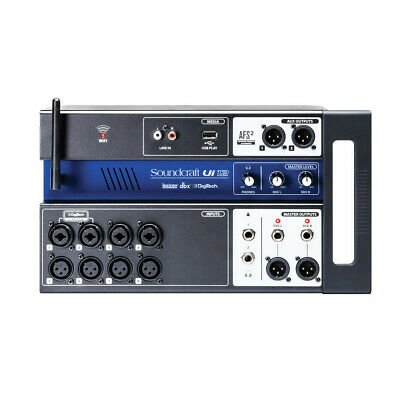 Soundcraft Ui12 12-Input Remote-Controlled Digital Mixer W/ Wi-Fi Router, New! • 259£