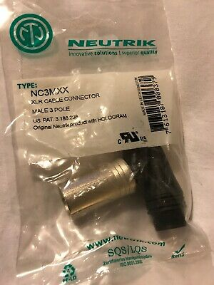 Neutrik Male XLR Plug Audio Cable Connector NC3MXX 3 Pole Pin Nickel Body • 4.40£