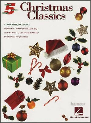 Christmas Classics 5 Five Finger Piano Very Easy Sheet Music Book
