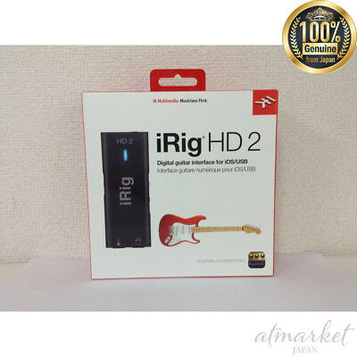 IK Multimedia IRig HD 2 High Sound Quality Guitar / Base Interface From JAPAN • 108.56£