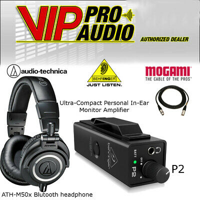 Behringer Powerplay P2 + Audio-Technica ATH-M50x + Mogami MCP-XX 15' Cable • 170.33£