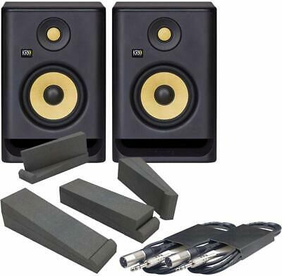 KRK Rokit 5 RP5 G4 Powered Studio Monitor Speakers With Isolation Pads & Cables • 313£
