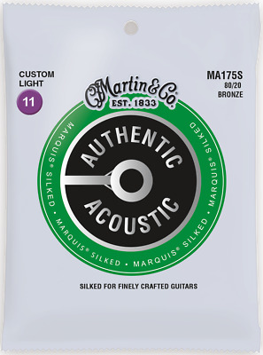 Martin Marquis Silked 11-52 C-Light 80/20 Bronze Acoustic Guitar Strings MA175S