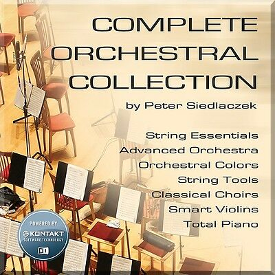 NEW Best Service Complete Orchestral Collection Choir Strings Violin Sampler • 145.72£