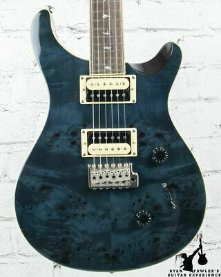 PRS SE Custom 24 Exotic Poplar Burl Custom Color Whale Blue W/ Bag • 691.67£