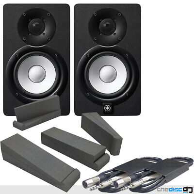 Yamaha HS5 Black Active Studio Monitors (Pair) + Isolation Pads & Leads • 329£