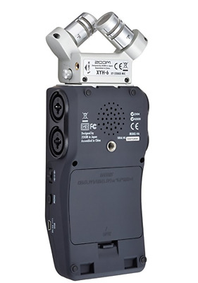 ZOOM H6 Handy Recorder Interchangeable Microphone System Linear PCM Recorder • 340.33£