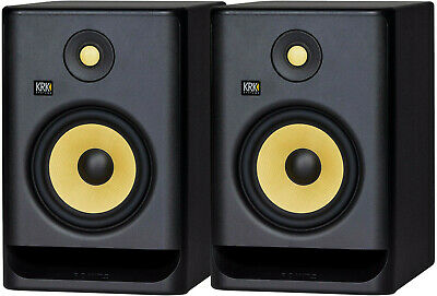 2x KRK RP5G4 Rokit 5 Active Generation-4 Powered Studio Monitor 2-Way Amplified • 261.87£