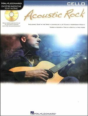 Acoustic Rock Cello Play-Along Music Book/CD The Who Tom Petty SAME DAY DISPATCH