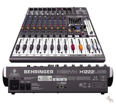 Behringer Xenyx X1222USB 16-Input 2-Bus USB Mixer W/ Effects & Mic Preamps • 238.72£