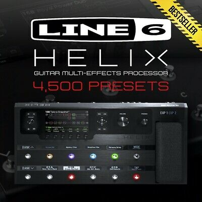 Line 6 Helix Guitar Processor - 4,500 Presets - Artists Patches Effects Amp Tone • 5.60£