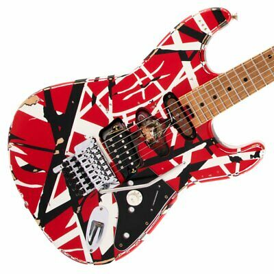 EVH Striped Series Frankie Red/White/Black Relic Electric Guitar (Pre-Order) • 1,364.58£