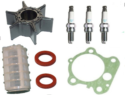Impeller Gasket Plugs Filter SERVICE PARTS KIT 80HP 90HP YAMAHA 2Stroke Outboard • 39.99£