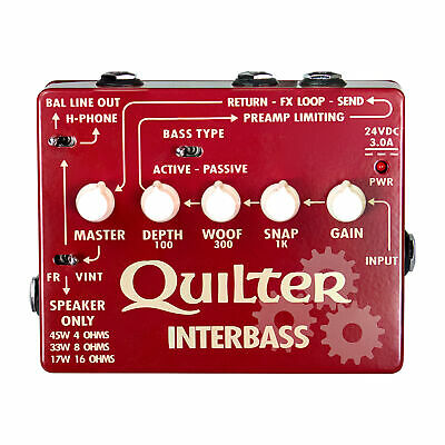 Quilter InterBass Pedal Sized 45W Bass Amplifier Head / DI • 204.27£