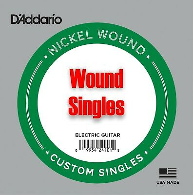 D'Addario Single Nickel Wound Slinky Electric Guitar Strings 17w - 80w Singles • 3.80£