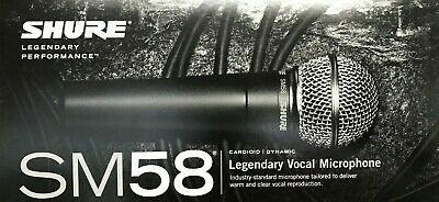 Shure - SM58-LC - Legendary Vocal Microphone • 94.02£