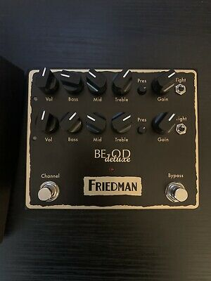 Friedman BE-OD Deluxe 2-Channel Dual Overdrive Distortion Effects Guitar Pedal • 185£