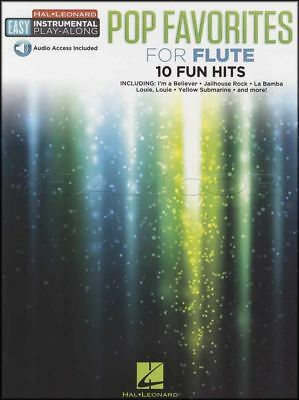 Pop Favorites for Flute Easy Instrumental Play-Along Sheet Music Book with Audio