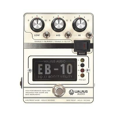 Walrus Audio EB-10 Preamp / EQ / Boost Guitar Effect Pedal - Cream - New • 176.85£