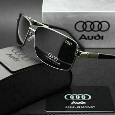 AUDI Men's Polarized Sunglasses Driving UV400 Lens Glasses  BRAND BOX For Gift • 9.59£