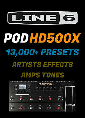 ✪ Line 6 POD HD500X 13,000+ Presets / Patches MEGA PACK ✪ AMPS ARTISTS EFFECTS ✪ • 3.80£