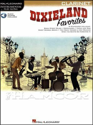 Dixieland Favorites Jazz Instrumental Play-Along for Clarinet Music Book & Audio