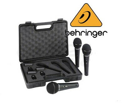 Behringer XM1800S 3 Dynamic Cardioid Vocal And Instrument Microphones (Set Of 3) • 72.32£