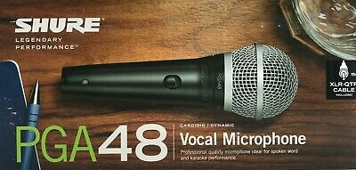 Shure - PGA48-QTR - Cardioid Dynamic Vocal Microphone with XLR to 1/4