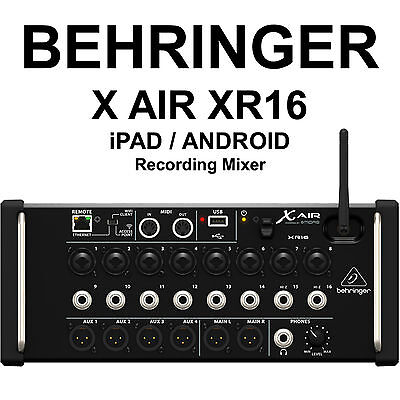 BEHRINGER X AIR XR16 IOS / Android Digital Recording Mixer With Remote App • 385.78£
