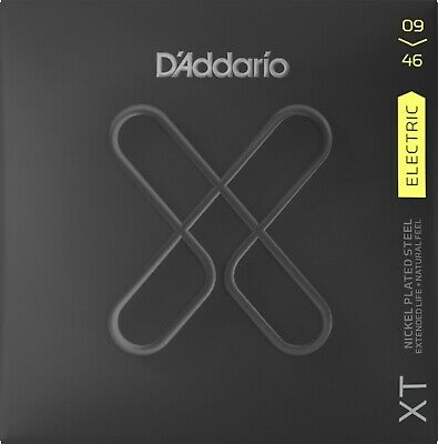 DAddario XT Nickel Coated 09-46 Super Light Top Reg Btm Electric Guitar Strings • 11.99£