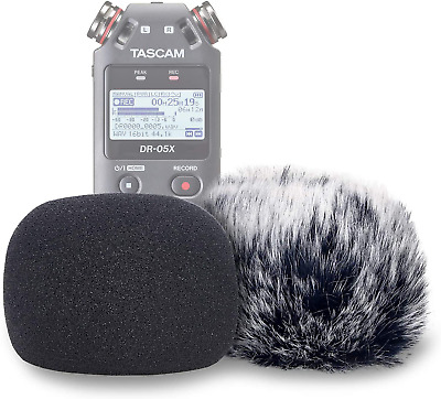 Dr05x Windscreen Muff And Foam Tascam Mic Recorders Indoor • 20.99£