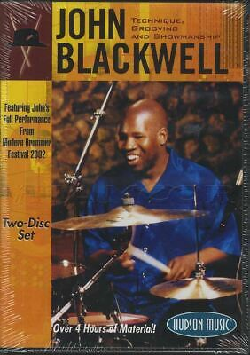 John Blackwell Technique, Grooving and Showmanship Drumset Drums 2 DVD Set