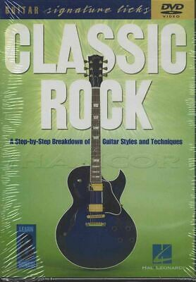 Classic Rock Guitar Signature Licks Learn How to Play Tuition DVD Beatles Police