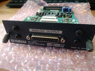 Yamaha MY8-DA96 Analogue Output Card LS9 M7cl 01v Dm1000 Dm2000 Etc • 140£