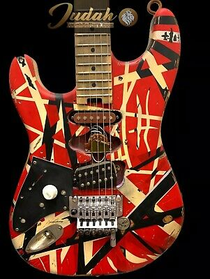 Lefty EVH Striped Series Red/white/black Modified Frankenstrat By *Judah Guitars • 1,713.77£