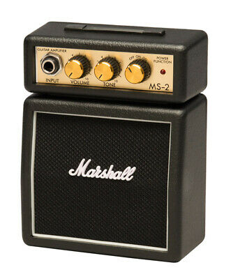 Marshall MS-2 Micro Stack Guitar Amp, Black (NEW) • 28£